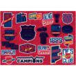 FC Barcelona vázlatfüzet sablonnal és matricákkal
