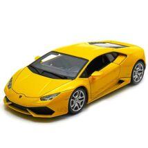 Bburago  Lamborghini Huracán LP 610-4 sárga fém modell autó 1 18 ed0abf305d