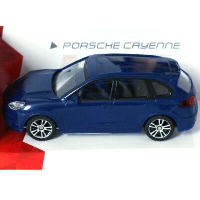 Super Fast Road: Porsche Cayenne kék fém autómodell 1/43