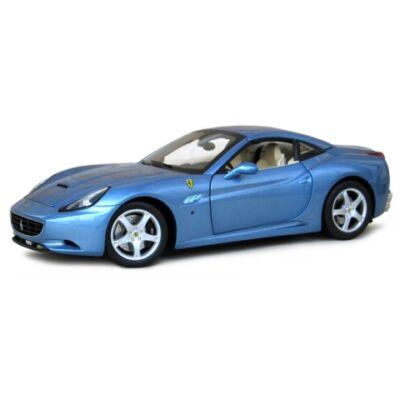 Bburago: Ferrari California kék fém modell autó 1/18
