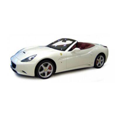 Bburago: Ferrari California cabrio fehér fém modell autó 1/18