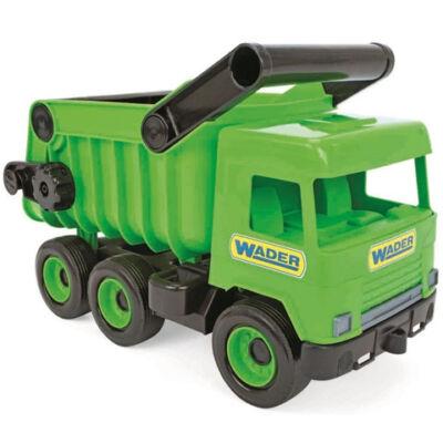 Middle Truck: Billentős dömper 43cm zöld