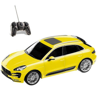 RC Porsche Macan Turbo sárga 40MHz 1:14 távírányítós autó