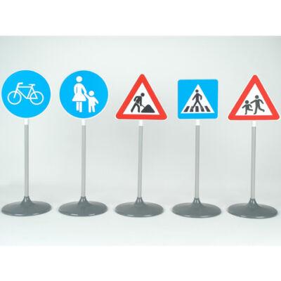 Közlekedési tábla 5db-os szett 72 cm