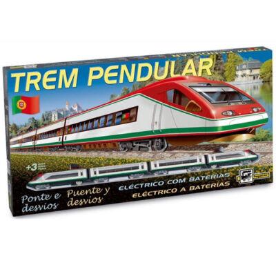Talgo Pendular 200 személyvonat vasút készlet váltókkal, sorompó