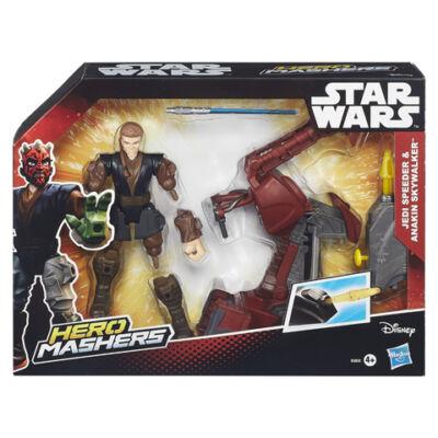 Star Wars Hero Mashers Jedi Speeder és Anakin Skywalker játék