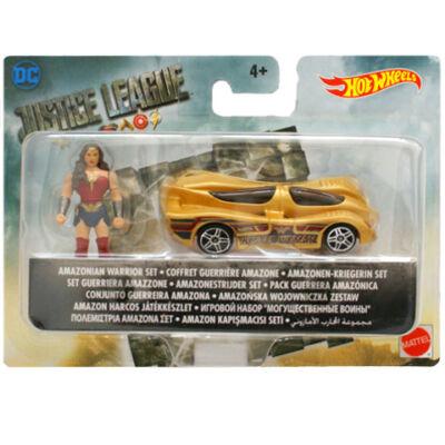 Hot Wheels - Igazság Ligája: Wonder Woman kisautóval