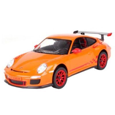 RC Porsche 997 GT3 RS távirányítós autó narancssárga 1/14