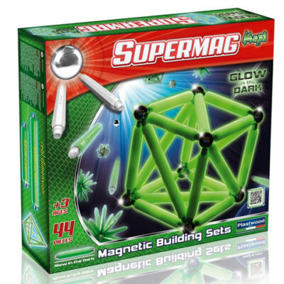 Supermag: Maxi glow 44 db-os mágneses játék