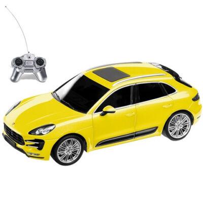 RC Porsche Macan sárga 1:24 távírányítós autó 40MHz