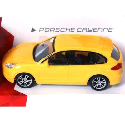 Super Fast Road: Porsche Cayenne sárga fém autómodell 1/43