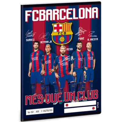 FC Barcelona második osztályos vonalas füzet A/5