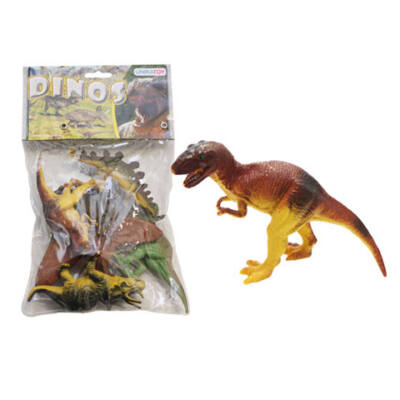 Műanyag játék dino figurák zacskóban