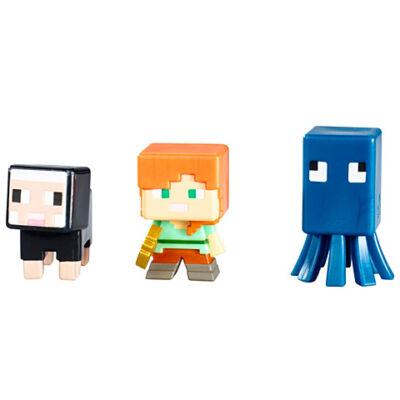 Minecraft: Fekete bárány, Alex, Tintahal, 3 db-os szett