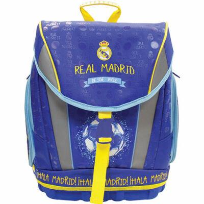 Real Madrid ergonomikus iskolatáska, hátizsák kék-sárga színben