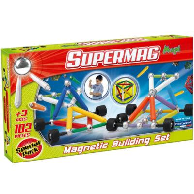 Supermag: Maxi Wheels 102 db-os mágneses játék