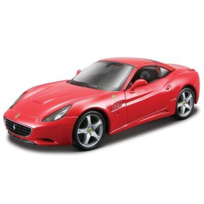 Bburago: Ferrari California piros fém modell autó 1/18