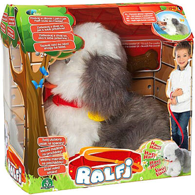 Ralfi interaktív Bobtail plüss Kutyus