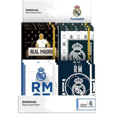 Real Madrid gumis napló 10×13,5 cm többféle