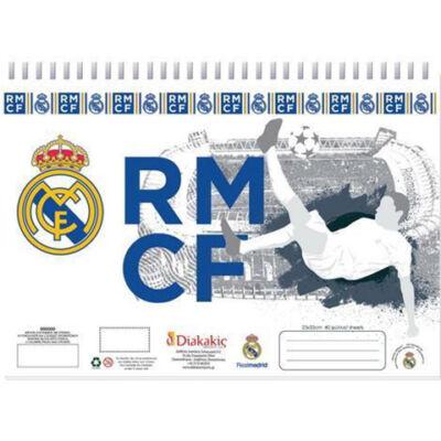 Real Madrid vázlatfüzet sablonnal és matricákkal