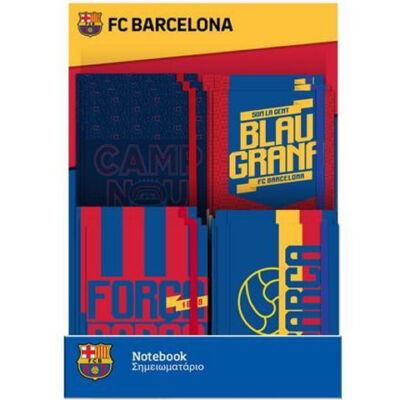 Barcelona gumis napló 10×13,5 cm többféle