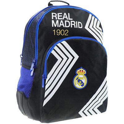 Real Madrid fekete-kék iskolatáska hátizsák 33×16×45 cm