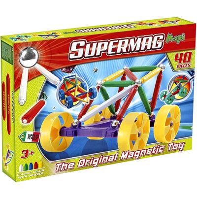 Supermag: Supermaxi Városi autó 40 db-os mágneses játék
