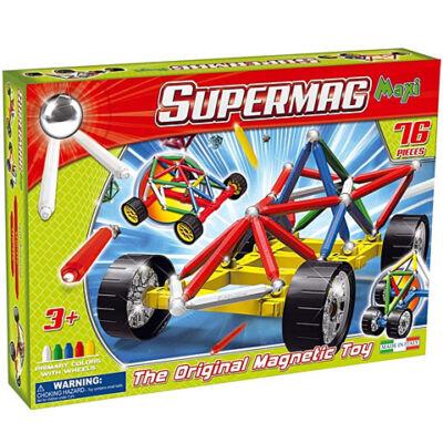 Supermag: Supermaxi Verseny autó 76 db-os mágneses játék