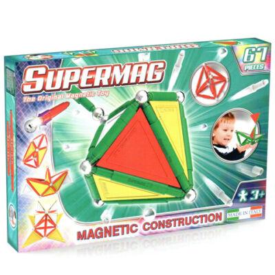 Supermag: 67 db-os mágneses építőjáték szett panelekkel