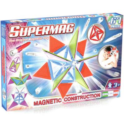 Supermag: 67db-os pasztell színű mágneses építőjáték szett panelekkel