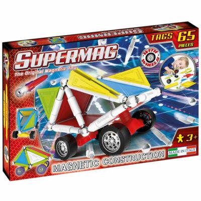 Supermag: Tags Wheels 65 db-os mágneses építőjáték