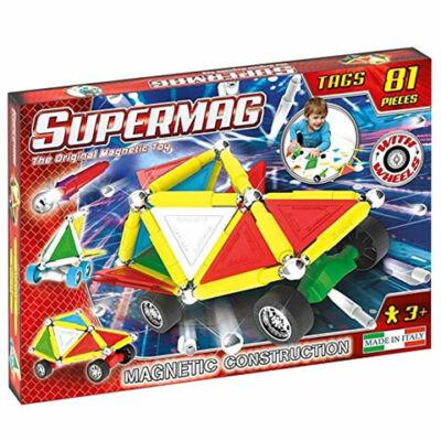 Supermag: Tags Wheels 81 db-os mágneses építőjáték