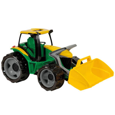 LENA: Óriás traktor homlokrakodóval zöld/sárga 62cm
