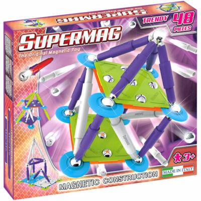 Supermag: Classic Trendy 48 db-os mágneses építőjáték