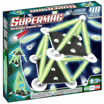 Supermag: Classic Glow 48 db-os mágneses építőjáték