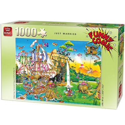 Friss házasok 1000 db-os Comic puzzle