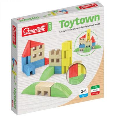Quercetti: ToyTown Premium 22 db-os fa építőjáték