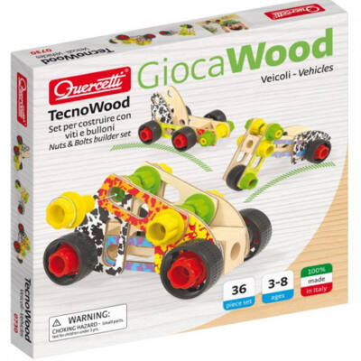 Quercetti: Tecno Járműépítő fa játékszett