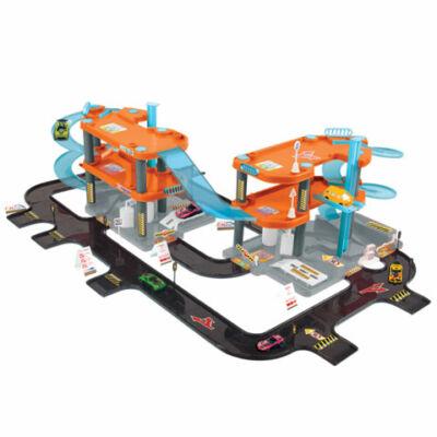 Háromszintes parkolóház közlekedési lámpákkal 113×82×30,5 cm