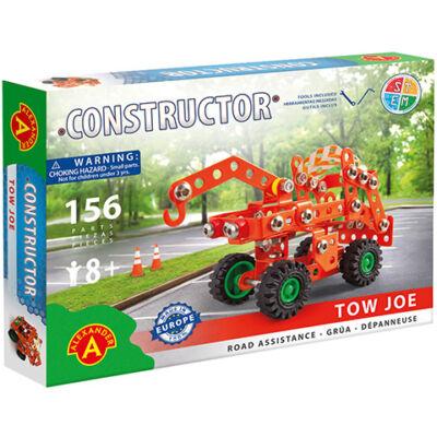 Csőrös vontató jármű fém építőjáték 156 db-os