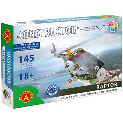 Raptor helikopter fém építőjáték 145 db-os