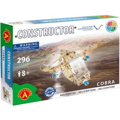 Cobra helikopter fém építőjáték 296 db-os