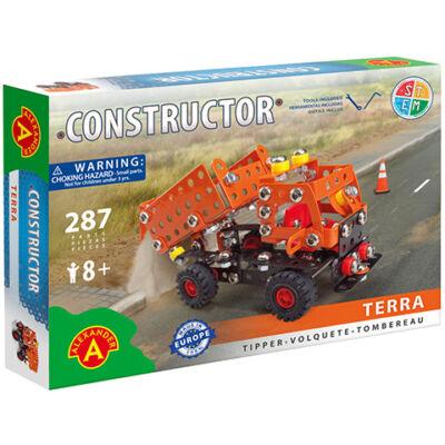 Terra billencses teherautó fém építőjáték 287 db-os