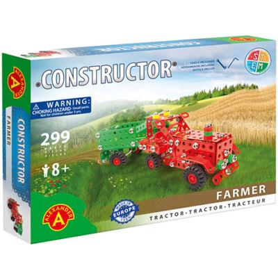 Farmer traktor utánfutóval fém építőjáték 299 db-os