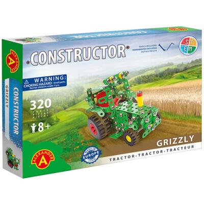 Grizzly traktor fém építőjáték 320 db-os