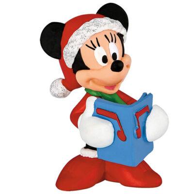 Minnie egér karácsonyi öltözetben játékfigura - Bullyland