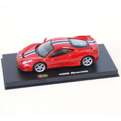 Bburago: Ferrari 458 Speciale fém autómodell 1/43 piros