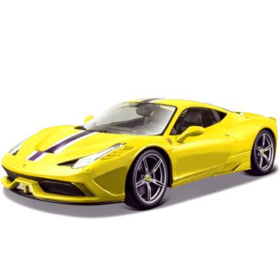 Bburago: Ferrari 458 Speciale autó sárga színben 1/43