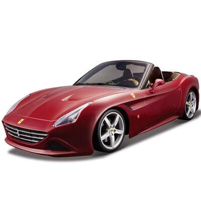 Bburago: Ferrari California T nyitott bordó fém autómodell 1/43