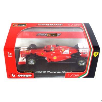 Bburago: F2012 Fernando Alonso fém autómodell 1/32